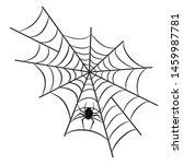 spider on web for halloween...   Shutterstock .eps vector #1459987781