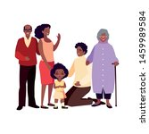 family parents kids group people | Shutterstock .eps vector #1459989584