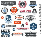 set of various sports and...   Shutterstock . vector #146000447