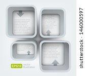 vector shelves with arrows | Shutterstock .eps vector #146000597
