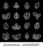 eco set of white line leaf... | Shutterstock .eps vector #1460058287