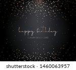 falling gold particles. golden... | Shutterstock .eps vector #1460063957