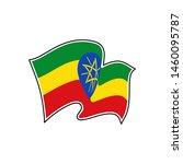 flag of ethiopia.  ethiopia... | Shutterstock .eps vector #1460095787
