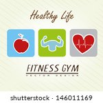 healthy life over lineal... | Shutterstock .eps vector #146011169