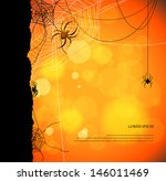 autumn background with spiders... | Shutterstock .eps vector #146011469