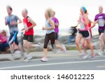 group of runners compete in the ... | Shutterstock . vector #146012225
