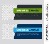 horizontal modern white banner... | Shutterstock .eps vector #1460133617