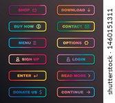 gradient button set  website... | Shutterstock .eps vector #1460151311