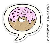 cartoon donut with speech...   Shutterstock . vector #1460154491