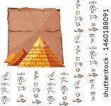 ancient egypt papyrus part with ...