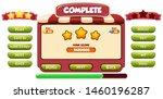 level complete menu pop up...