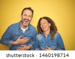 beautiful middle age couple... | Shutterstock . vector #1460198714