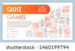 quiz games web banner  business ...