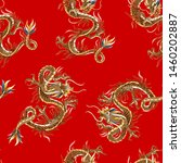 seamless pattern with chinese... | Shutterstock .eps vector #1460202887