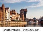 View of old town Gdansk (Gdańsk / Danzig), Poland (Polska / Polen) with merchants