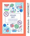 whole food diet brochure...   Shutterstock .eps vector #1460235827
