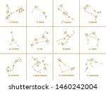 vector set of square zodiac...   Shutterstock .eps vector #1460242004