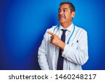handsome middle age doctor man... | Shutterstock . vector #1460248217