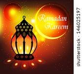 ramadan kareem greeting card  ... | Shutterstock .eps vector #146025197