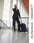 full length of a businessman... | Shutterstock . vector #146026577
