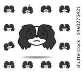 pekingese emoji shocked...