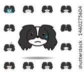 pekingese emoji cry...