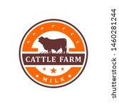 vintage cowhide circle logo... | Shutterstock .eps vector #1460281244