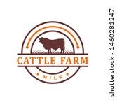 vintage angus cattle logo your... | Shutterstock .eps vector #1460281247