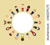 set of pixel art people icons ... | Shutterstock .eps vector #146029175