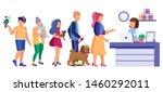 veterinary clinic queue  pet... | Shutterstock .eps vector #1460292011