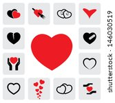 abstract heart icons   signs  ... | Shutterstock .eps vector #146030519