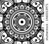 black and white ethnic mandala... | Shutterstock .eps vector #1460313971