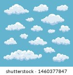 cartoon clouds set. vector... | Shutterstock .eps vector #1460377847