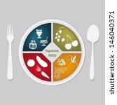 vegetarian food | Shutterstock .eps vector #146040371