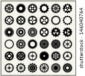 collection of 36 gear wheels... | Shutterstock .eps vector #146040764