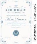 certificate. template diploma... | Shutterstock .eps vector #1460482547