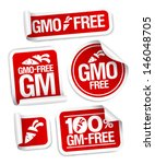 gmo free stickers set for... | Shutterstock .eps vector #146048705