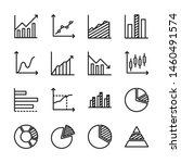 chart and graph line icons set...   Shutterstock .eps vector #1460491574