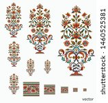 mughal  flower  motif  bunch  ... | Shutterstock .eps vector #1460525381
