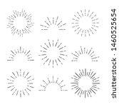 set of vintage sunbursts in... | Shutterstock .eps vector #1460525654