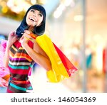 Fashion Shopping Girl Portrait...