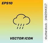 raining and cloud vector icon...