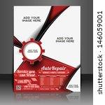 vector automobile center flyer  ... | Shutterstock .eps vector #146059001