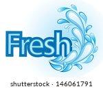 fresh and water label vector | Shutterstock . vector #146061791