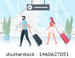 travel concept. couple  young...   Shutterstock .eps vector #1460627051