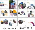 minimal brochure templates with ... | Shutterstock .eps vector #1460627717