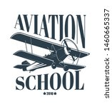 aviation school logo with...   Shutterstock .eps vector #1460665337