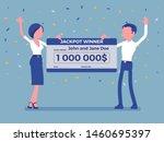 winning lottery ticket  happy... | Shutterstock .eps vector #1460695397