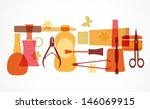 beauty and care silhouettes... | Shutterstock .eps vector #146069915