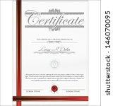 certificate template   Shutterstock .eps vector #146070095